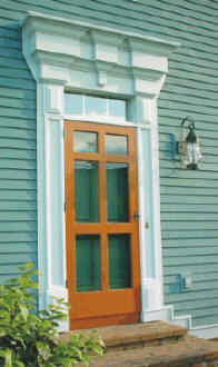 122 Jefferson Style Screen Storm Door & Wooden Screen Doors and Storm Doors Handcrafted from Mahogany