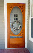 Hudson mahogany screen door style 131