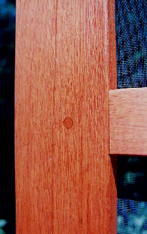 Honduras mahogany with a clear, wood protector finish